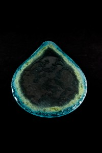 46x34 cm Glass Bubble Teardrop Platter