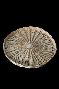 Wicker Bread Basket - Round Flat